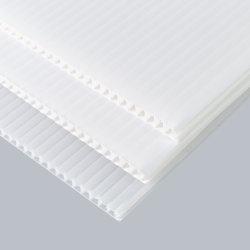 PP blanco el cartón ondulado para carteles de publicidad