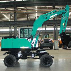 Escavatore a ruote mobili da 9 tonnellate fornitore Gold macchina per costruzioni pesanti