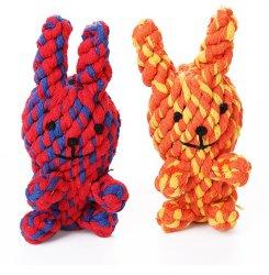 Neues Haustier gibt Hundespielzeug-Baumwolseil-Kaninchen an