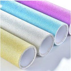 Película de PVC adhesivo Glitter PP plóter color Autoadhesivas vinilo de corte Roll fabricante