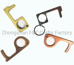 Heißes Verkauf berührungsfreies EDC-Tür-Öffner-MetallmultifunktionsKeychain Höhenruder-Griff, mit Ihrem eigenen Firmenzeichen