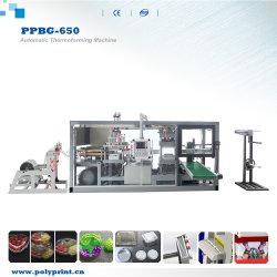 مشروبات ساخنة القهوة/الحليب/الشاي PS PVC Pet Cup lid Plastic Machinery آلة تشكيل صينية صندوقي القادوس المحاري