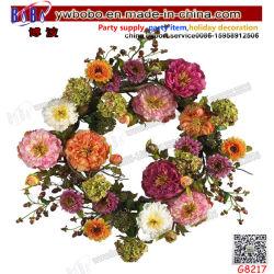 Partie d'alimentation pendre d'accueil de mariage d'anniversaire de la décoration de fleurs artificielles des couronnes de gros (G8217)