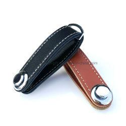 Kundenspezifisches Leder PU-Geschäfts-Geschenk intelligenter Keychain Halter