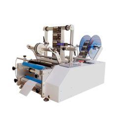 Máquina de Etiquetagem Manual redondos máquina de Rótulos para latas de jarros de código de barras da etiqueta de lábio Applicator com impressão de data