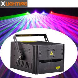 Luce laser professionale della discoteca della tenda della pioggia di verde della fase