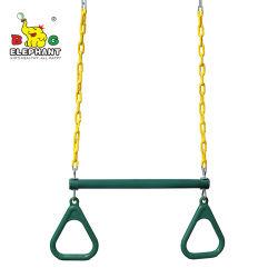 반지가 있는 저렴한 가든 짐 링 Trapeze 바 스윙 및 PVC 코팅 체인