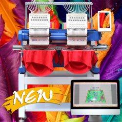 최상 400*500mm 지역 15 색깔 중국을%s 가진 맨 위 편평한 /Hat/ 3D/가죽 컴퓨터 자수 기계 10 년 서비스 Holiauma 공장 2