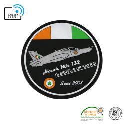 Frais de voyage d'aéronefs Logo d'impression personnalisée Patch PVC Étiquette de fer en caoutchouc souple