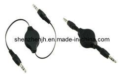 Cable AV para reproductor de DVD/PC/móvil/altavoces audio escamoteable Cable USB Cable Óptico (JHAV06-01)