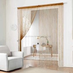 Cadena de biselado de la cadena de bolas de plástico de cortina con flequillo Borla Cortinas de la puerta de paneles para pared de la puerta y ventana Decoración