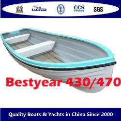 4.7M Bestyear 4.3m/barco a remos de fibra de vidro com raquete