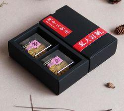 Marchandises Spot 2 Pack de papier Kraft noir Mooncake Case, boîte de papier pliées, Mooncake boîte cadeau