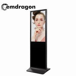 65-дюймовый узкая панель напольная стойка самообслуживания Digital Signage ЖКМ ЖК-дисплей Digital Signage 65-дюймовый ЖК-дисплей Реклама в Интернете