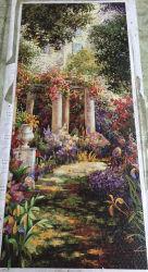 Diseño de fondo, el arte del mosaico de vidrio patrón mosaico Mosaico de la pared (HMP924)