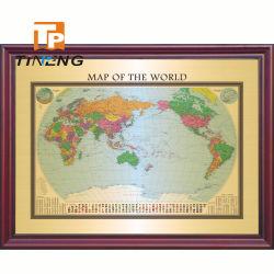 2000x1450mm Big Size Deluxe carte politique mondiale de cuivre, décoratif carte du monde