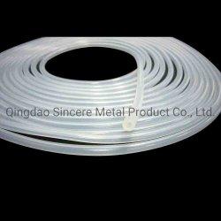 Cordon flexible en silicone transparent, clair de tubes en caoutchouc de silicone de qualité alimentaire Personnalisé, usine de tube de silicone de qualité médicale