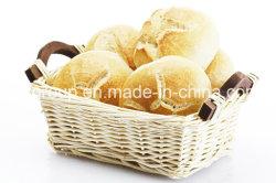 [إك-فريندلي] بيضاء مستطيلة صفصاف خبز سلّة مع مقبض خشبيّة