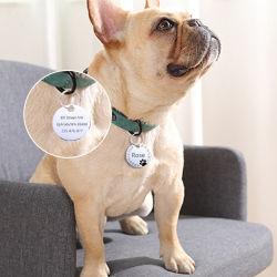Personifiziert passte das Gravieren der Haustier-Katze-Namensmarken Hund-Identifikation-Marken-Muffen-Zubehör-Typenschild Anti-Verlorenen hängenden Metalschlüsselring an