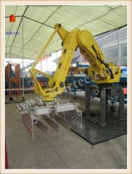 Автоматическая настройка робота машины из кирпича производственной линии