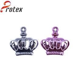 Crown ornamento de plástico para vestuário para crianças