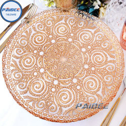 Удалите бумагу резки стекла в стиле зарядное устройство плиты свадебные бокалы украшения стекла посуда