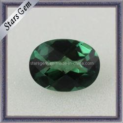 Zirkoon van de Vorm van de Prijs van de fabriek het Duidelijke Smaragdgroene Ovale voor Juwelen
