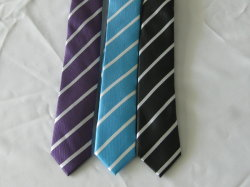 Gran banda de ancho de la moda de hombre corbatas Poly Micro