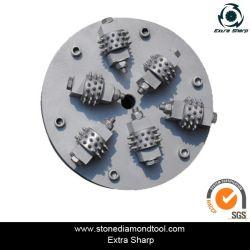 Piso de concreto da Pedra de diamante Bush Rolete de martelo para a fabricação de superfície