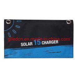 Водонепроницаемый чехол для установки вне помещений Custom портативный генератор солнечной энергии зарядное устройство складная сумка Складная солнечная панель 15W зарядное устройство