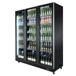 ファン冷却商用アップライト冷却ドリンクビールディスプレイクーラー冷蔵庫