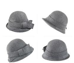 女性 6 のための beret 帽子の流行の帽子のウールのベレの帽子