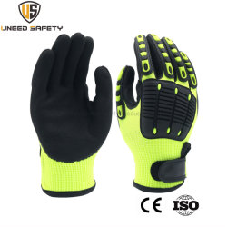 La perfecta seguridad en el trabajo mecánico industrial trabajo laboral protectora resistente al corte de nitrilo guante de látex mano