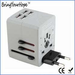 4 USB-Kontaktbuchse-Multilandesgebrauch-Universalarbeitsweg-Gehilfen-Adapter (XH-UC-066)