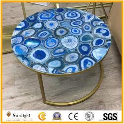 Coustom 가구를 위한 자연적인 화강암 또는 대리석 또는 마노 돌 둥근 커피 또는 식탁