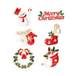 Mode bijoux noël vacances de Noël avec de l'émail broche