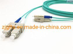 Fibra óptica de PVC/LSZH LC-Sc Duplex Multimode OM3 Cabo de fibra a montagem