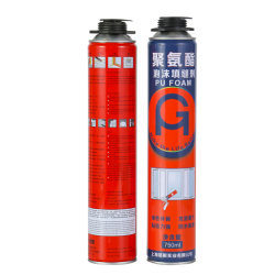 750ml China maakte het Opzetten het Dichtingsproduct van de Isolatie van het Schuim van de Vuller Pu van het Schuim van Capaciteiten