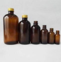 Groothandel Amber gegoten flesjes Mondelinge vloeibare fles Fabrikant van leeg Custom-vials van klein glas