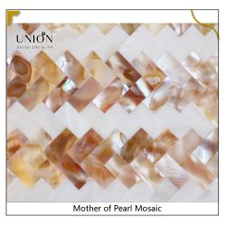 Gemengde kleur Shell Mozaïek Subway Moeder van Pearl Tegels Hotel Bouw Decoratie Achtergrond muur keramische tegel