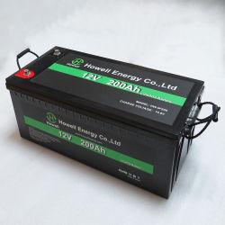 precio de fábrica de baterías LiFePO4 de ciclo profundo 12V 200Ah batería de ión litio de la energía solar/Camping Caravana/RV/barco/Yacht