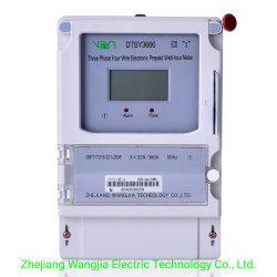 Compteur d'énergie triphasé prépayé/ prépayé triphasés compteur électrique