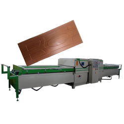 La puerta de PVC automático de chapa de madera de línea directa de la membrana de vacío vacío de la máquina de Prensa Prensa de calor para el armario de cocina