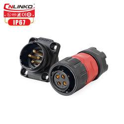 M20 전기 제품 잭 나사 플러그 방수 연결관 4 Pin