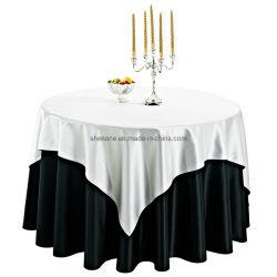 100%のあたりのShenoneはポリエステル結婚式のテーブルクロスの宴会ポリエステルテーブル掛けおよびホテルの食卓用リネンを回した
