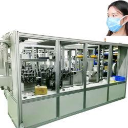 Máscara facial descartável e 3camadas em azul não estéreis mais de 300 PCS/min a realização de máscaras a máquina