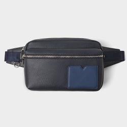 حقيبة الخصر الجلدية بحزام مزلدة غير رسمية أنيقة