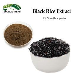 Alimentação extrato de arroz preto de alta qualidade 25% antocianina