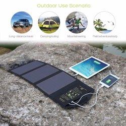 21W 선파워 접이식 USB DC 휴대폰 전원 뱅크(휴대용 Solar 충전기 가방 최고 품질