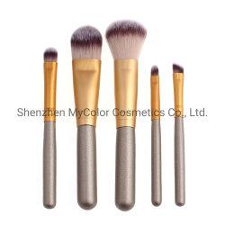 Etiqueta Privada Mycolor Pinceles de maquillaje maquillaje de viajes 5pcs Kit Pincel sombra de ojos en polvo de la Fundación